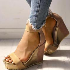 Pentru Femei Ţesătură Platforme Înalte Sandale Încălţăminte cu Toc Înalt cu Cataramă pantofi