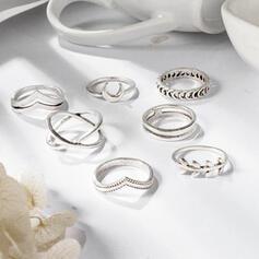 Unic rafinat Elegant Aliaj Seturi de bijuterii Inele (Set of 7)