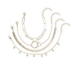 Wyjątkowy Znakomity Szykowny Stop Zestawy biżuterii Bransoletki Biżuteria plażowa (Zestaw 4 par)
