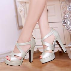 De mujer Cuero Tacón stilettos Sandalias Salón Encaje con Cremallera zapatos