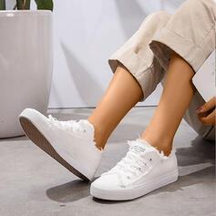 Женский холст Повседневная Спортивное с Зашнуровать обувь
