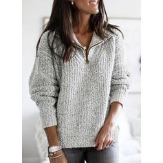 Solid Striat Bucată tricotată klapa Comod Kazaklar