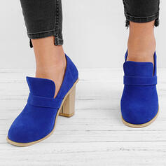 De mujer PU Tacón ancho Salón Botas con Otros zapatos