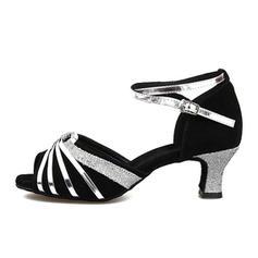 Kvinder Latin sandaler Ruskind med Udhul Latin