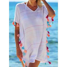 Tassels V-Neck Elegant Bohemian Cover-ups Swimsuits