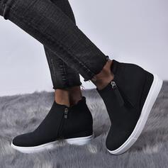 Dla kobiet Skóra ekologiczna Płaski Obcas Botki Z Zamek błyskawiczny obuwie