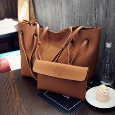 Elegant/Solid Color Tasker/Bag Sets/Punge & Wristletter