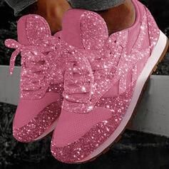 Dla kobiet PU Płaski Obcas Plaskie Zakryte Palce Z Sznurowanie obuwie