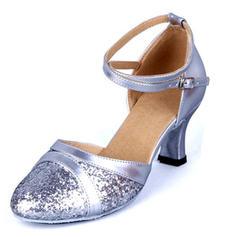 Kvinder Bal sandaler Kunstlæder Mousserende Glitter med Udhul Latin