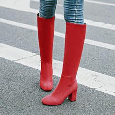 De mujer Ante Tacón ancho Salón Botas a la rodilla con Otros zapatos