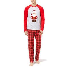 Noel Baba Carouri Aile Eşleşen Noel Pijamaları