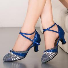 Mulheres Salão de Baile Espumante Glitter Latino