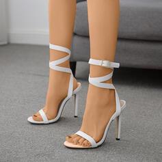 Women's PU Stiletto Heel Sandals Pumps shoes