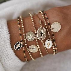 Elegante Liga Conjuntos de jóias Pulseiras (Conjunto de 6)
