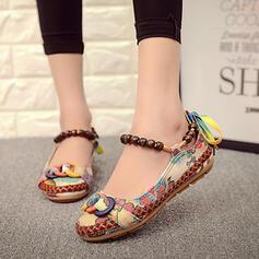 Pentru Femei Ţesătură călcâi plat Balerini pantofi
