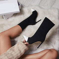 Pentru Femei PU Toc Stiletto Cu vârful cu Splice Color pantofi