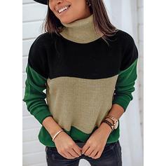 Blok Kolorów Golf Casual Swetry