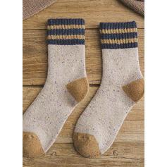 Stitching Comfortable/Christmas/Crew Socks/Unisex Socks
