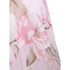 Nadrukowana/Kwiatowy Bez rękawów W kształcie litery A Długośc do kolan Wintage/Przyjęcie/Elegancki Łyżwiaż Sukienki