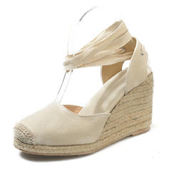 De mujer PU Tipo de tacón Cuñas con Cordones zapatos