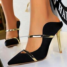 De mujer Satén Tacón stilettos Salón Tacones con Color de empalme zapatos
