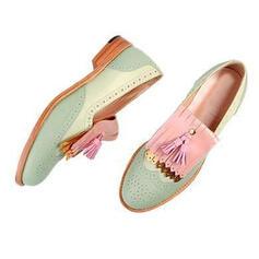 De mujer PU Otros Planos con Borla zapatos