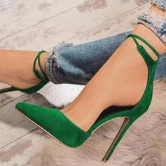 Dla kobiet Skóra ekologiczna Obcas Stiletto Czólenka Z Sznurowanie obuwie