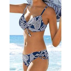 Распечатать Отжимание Ремень V шеи сексуальный марочный Bikinis купальников