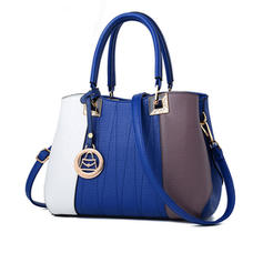 Fashionable/Commuting/Splice Color Tote Bags/Crossbody Bags