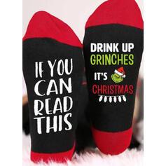 Letter/Print Breathable/Christmas/Crew Socks/2020/Unisex Socks
