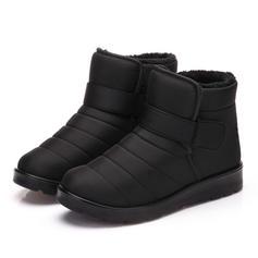 Bayanlar Erkeklerin Kumaş Düz topuk Flats Kapalı Toe bot ayakkabı ayakkabı
