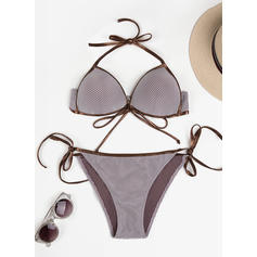 Lav midje Thong string Halterneck Sexy Bikinier Badedrakter