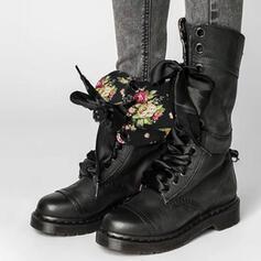 Pentru Femei PU Toc jos Cizme cu Lace-up pantofi