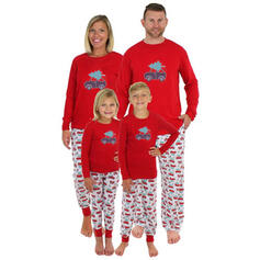 Dibujos animados Familia a juego Pijamas De Navidad