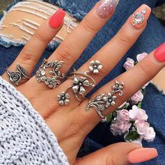 Boho bloemen Legering Vrouwen Dames Ringen 4 STUKS