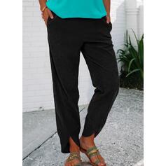 Pevný Shirred Neformální Vinobraní Lounge kalhoty