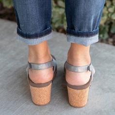 Pentru Femei PU Platforme Înalte Sandale Platforme Puţin decupat în faţă cu Altele pantofi