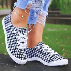 Kvinner Klut Flat Hæl Round Toe espadrille Skli på med Blondér sko