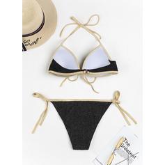 Niski stan stringi string Wiązany na szyi Seksowny Bikini Stroje kąpielowe