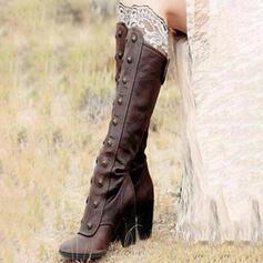 Femmes Similicuir Talon bottier Escarpins Bottes avec Rivet Zip chaussures