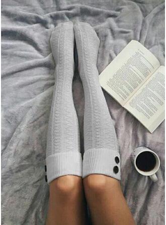 Culoare solida respirabile/Confortabil/Femei/Șosete de vițel Şosete/Ştrampi