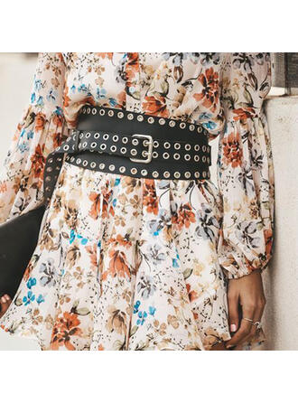 Charming Alloy Leather Women's Belts