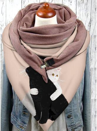 アニマル/印刷 ファッション/黒猫 スカーフ