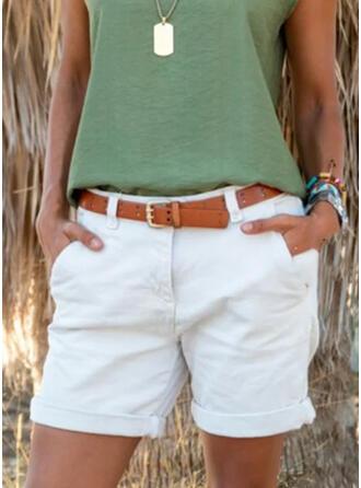 Pevný Nad kolenem Neformální Plus velikost hlubokým výstřihem Kalhoty Šortky