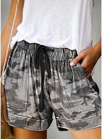 Tisk Camuflaj Mini Casual Pantaloni scurti