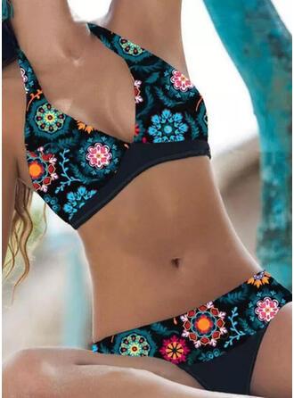 недоуздок V шеи сексуальный Большой размер Boho Bikinis купальников
