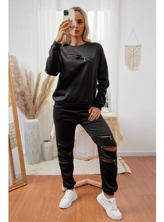 Imprimeu gündelik Sweatshirts & İki Parça Kıyafetler Set ()