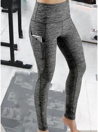 Solid Patchwork Sexy Sportslig Yoga leggings