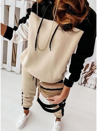 Színblokk sportszerű Alkalmi Molett Pulóverek & Kétrészes ruhák Set ()