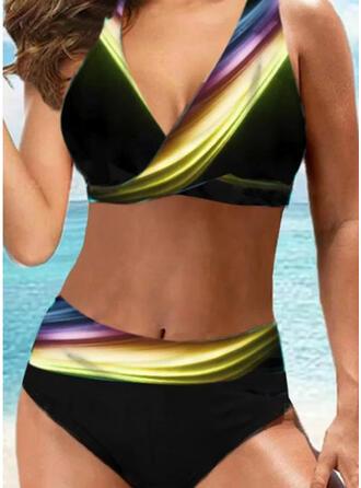 недоуздок V шеи сексуальный Большой размер Повседневная Bikinis купальников